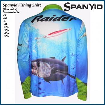 Spanyid Fishing Shirts UPF 50+, Fishing T-Shirts, Long-Sleeve, Blue colour