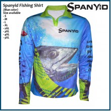 Spanyid Fishing Shirts UPF 50+, Fishing T-Shirts, Long-Sleeve, Blue colour